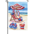 Patriotic Beach: Garden Flag