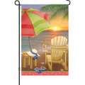 Beach at Sunset: Garden Flag