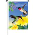 Always Hummingbirds: Garden Flag