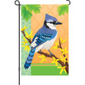 Blue Jay in Spring: Garden Flag