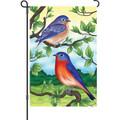 Bluebirds: Garden Flag