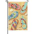 Flip Flops in the Sand: Garden Flag
