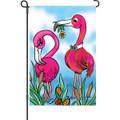 Sweet Surrender  (Flamingo )  : Garden Flag