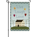 Live Laugh Love: Garden Flag