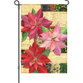 Yuletide Poinsettas: Garden Flag