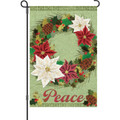 Poinsettas Wreath: Garden Flag
