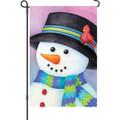 Friendly Snowman: Garden Flag