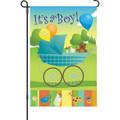 Rock-A-Bye Baby Boy: Garden Flag