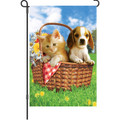 Summer Picnic (Cat & Dog): Garden Flag