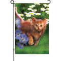 Curious Cat: Garden Flag