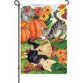 Harvest Kittens: Garden Flag