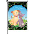 A Friend Loves  (Cat & Dog) : Garden Flag