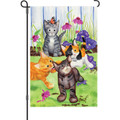 Kitten Flower Bed: Garden Flag