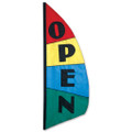 Open Feather Banner (Block)  3.5ft :  Commercial Displays