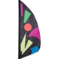 Midnight Jazz   3.5 ft Feather Banner