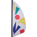 Rainbow Jazz   3.5 ft Feather Banner