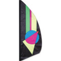 Neon Prizm   3.5 ft Feather Banner