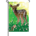 Babes in the Woods (Deer) : Illuminated Flag