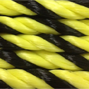 "1 1/2"" Yellow and Black Polypropolene 600' Coil"