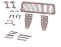 Complete Hood Kit, Satin Stainless, 78-95 CJ/Wrangler