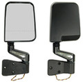 LED MIRROR PAIR BLK DUAL F