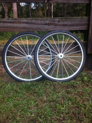 """26"""" Solid Rubber Tire and Rim Complete Assembly"""