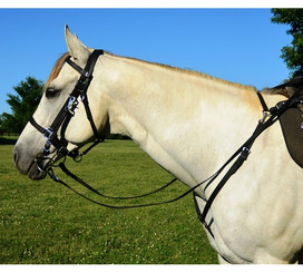 Traditional HALTER BRIDLE with BIT HANGERS made from LEATHER