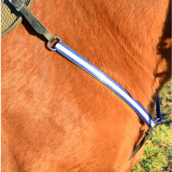 WESTERN BREAST COLLAR made with REFLECTIVE DAY GLO Biothane