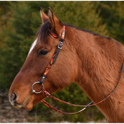 WESTERN BRIDLE (One Ear or Two Ear Split Ear Browband) made with CAMOUFLAGE Beta Biothane