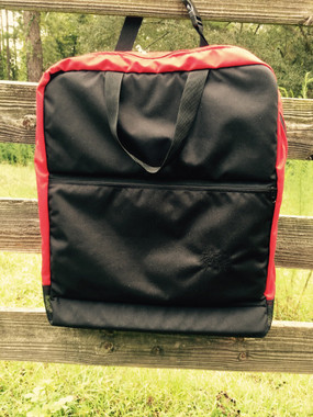 This Lucky Black and Red Show Halter Bag is available now!