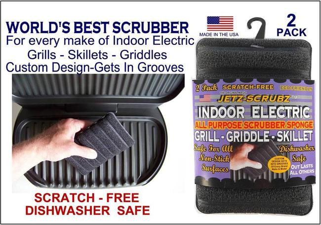 Jetz Scrubz Indoor Electric Grill Combination Scrubz & Sponge Single pk. $4.99 - Double pk. $7.99