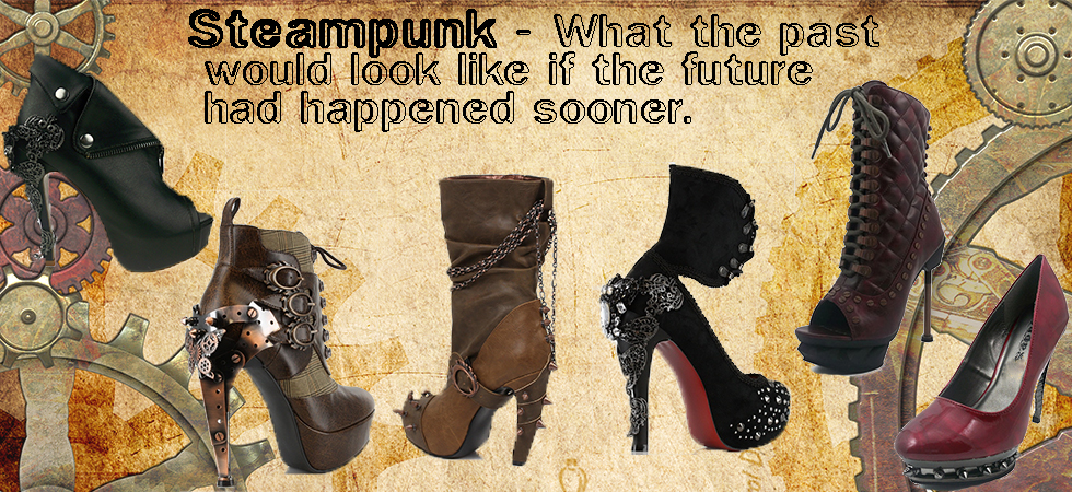 Steampunk Shoes and Boots