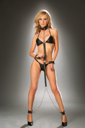 Leather Collar w Detachable Wrist & Ankle Restraints