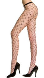 Black Big Diamond Net Stockings Nylon Pantyhose