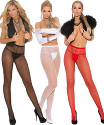 Fishnet Pantyhose - O/S or XL - Available in Black, Red or White.  Other colors available