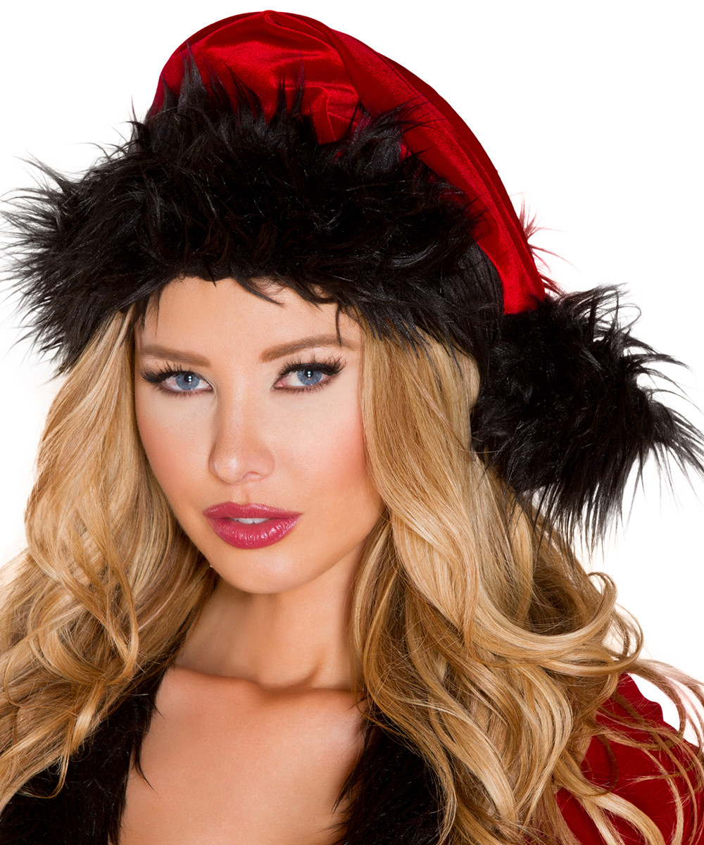 Santa Hat - Red w Black Trim - © 2016 Roma Costumes, Inc.