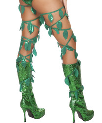 Thigh Wraps - Green Leaf - Back -  © 2016 Roma Costumes, Inc.