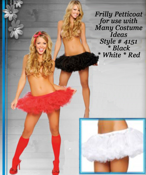 Flared Petticoat in Black, White and Red  -  © 2016 Roma Costumes, Inc.