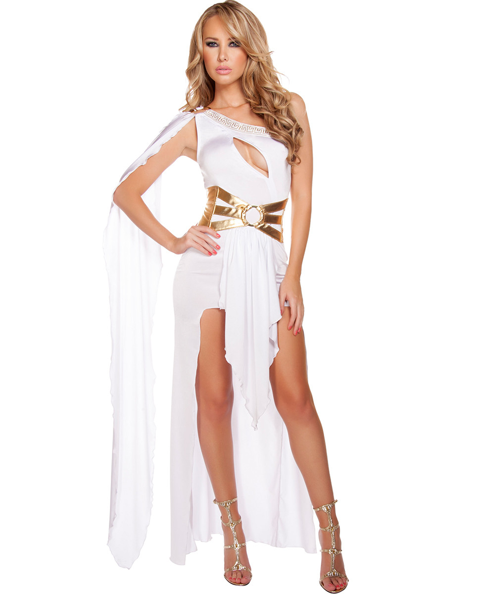 Georgeous Grecian Goddess Costume - White - Front -  © 2016 Roma Costumes, Inc.