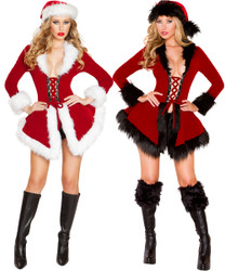 Santa Chic Set - Red w White or Black Trim - Front -  © 2016 Roma Costumes, Inc.