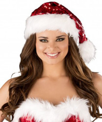 Red Sequin w White Trim XMas Hat -  © 2016 Roma Costumes, Inc.
