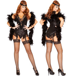Party Flapper Costume - Front / Back  -  © 2016 Roma Costumes, Inc.