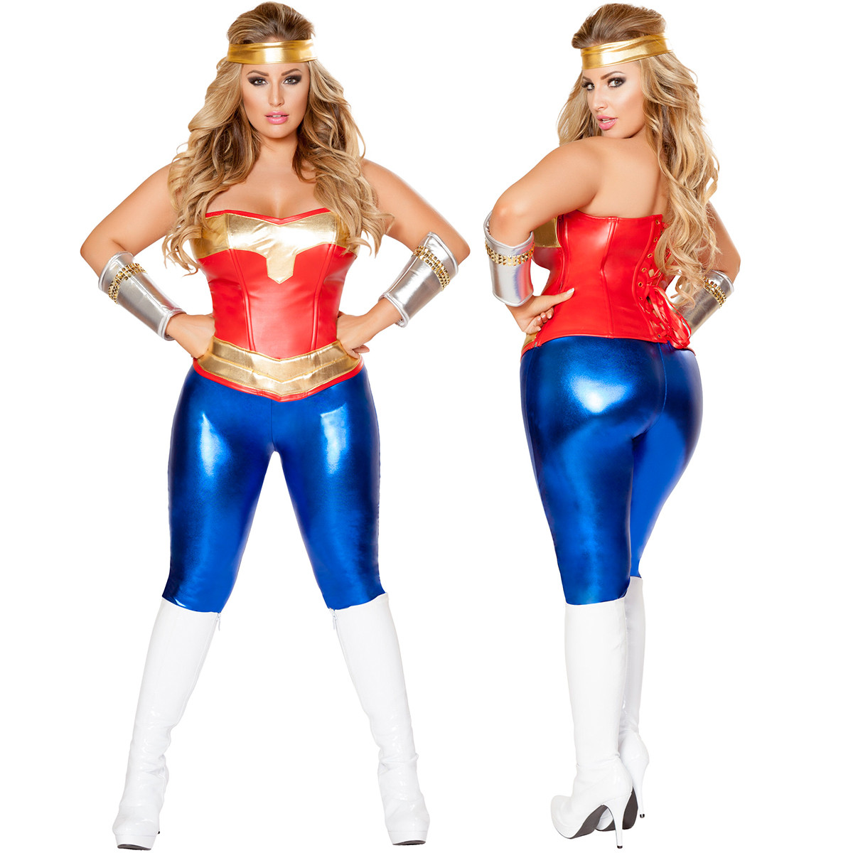 Comic Cutie (Plus Size) - Front / Back -  © 2016 Roma Costumes, Inc.