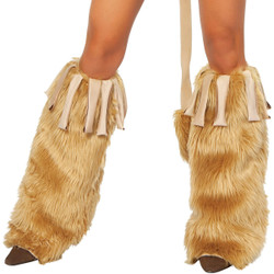 Leg Warmers - Honey Fur w Fringe - Goes w #4710 Vicious Lioness Costume - © 2016 Roma Costumes, Inc.
