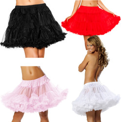 Flared Petticoat in Black, White, Red and Pink  -  © 2016 Roma Costumes, Inc.