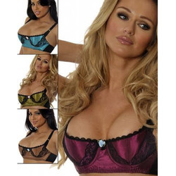 Bengaline & Lace Vintage Demi Bra - 4 Colors - Band Sizes 34-44 - Cups B-DD