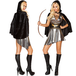 3 Pc Huntress Costume - Sizes Sm to Lg - Genuine Roma Product