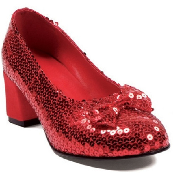 Red Glitter Shoe - Great Accessory for Dorothy in Wizard of Oz