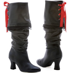 "2"" Calf High Boot w Ribbon Detail - Sizes 6 - 10"