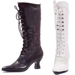 "2.5"" Lace Up Calf High Boot - Sz 6-10"